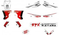 F14 - ΑΥΤΟΚΟΛΛΗΤΑ ΓΙΑ KRISS FULL COLOUR RED - BLACK & RED - MAT BLACK